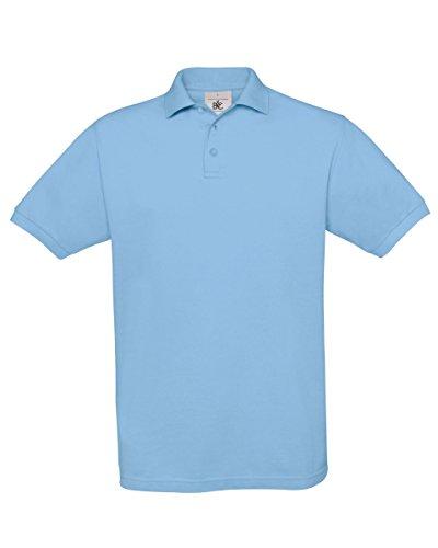 B & C Safran Men's Polo Shirt Blau - Himmelblau