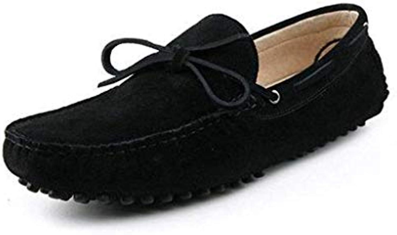 Willsego Nuovo Nodo da Uomo Mocassini da Guida in in in Pelle Scamosciata Neri Penny Boat scarpe 5.5 M UK (Coloreee   -... | Germania  | Uomo/Donne Scarpa  a1748b