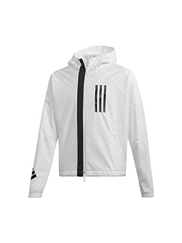 adidas Performance ID Wind Kapuzenjacke Kinder weiß/schwarz, 152