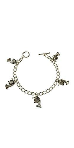 musical-instrument-french-horn-charm-bracelet-size-large-20cm