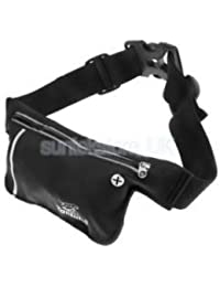 Alcoa Prime Unisex Ultrathin Outdoor Running Waist Bag Sports Pockets Bag Black - B074P5VX6J