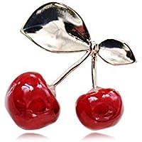 KUNQ Süße Brosche/Cherry - Brosche Mädchen Wildblumen Hübschen Broschen Zubehör Einfache Mode - Pins Mantel Zubehör Strickjacke Tasten