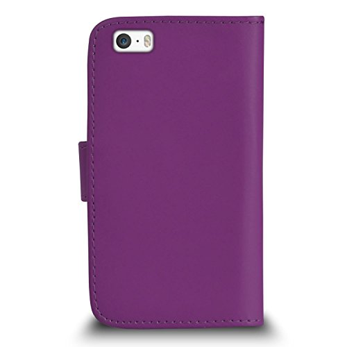 Apple iPhone 5 / 5S Pack 1, 2, 3, 5, 10 Protecteur d'écran & Chiffon SVL0 PAR SHUKAN®, (PACK 5) Portefeuille VIOLET