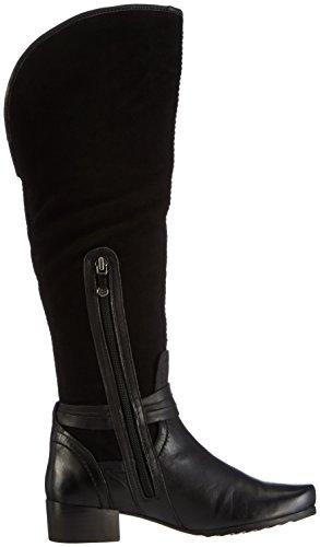 Marc Shoes Madina, Stivali da infilare a gamba alta Donna Nero (Nero (100 Black))