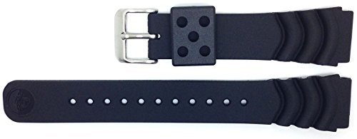 Genuine Seiko Z20 20mm Replacement Black Divers Watch Strap DA3H1JR for Seiko Divers Watches