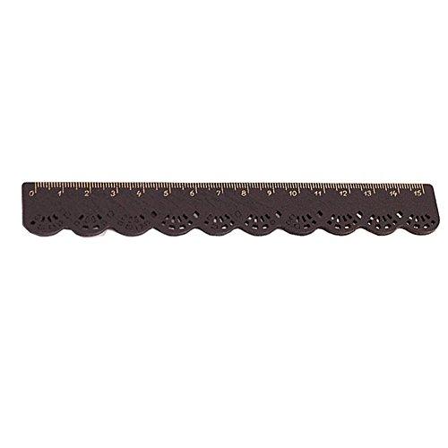 Hosaire 1x Retro Spitze Lineal aus Holz 15 cm Lineal aus Holz Rulers aus Holz 15 cm-Schwarz
