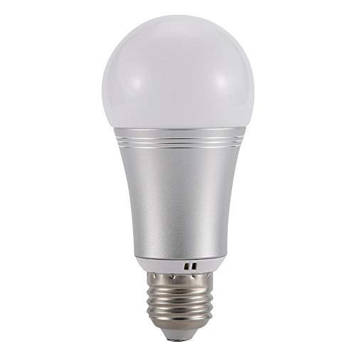 Ichiias Wi-Fi-Lampe, Smart Wi-Fi-LED-Glühbirne AC100-264V E27 E14 B22 9W RGB + W Smartphone-gesteuerte Lampen(E27)