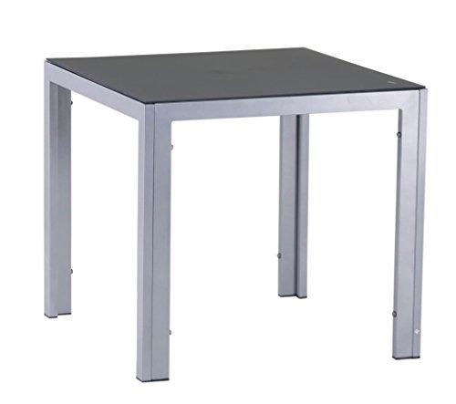 Mandalika Garden Hochwertiger Aluminium Gartentisch Luna Silber