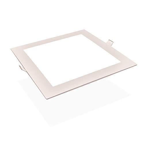 Modenny Regulable Ultra delgado Cuadrado LED Empotrado Lámpara de techo Bombilla Ahorro...
