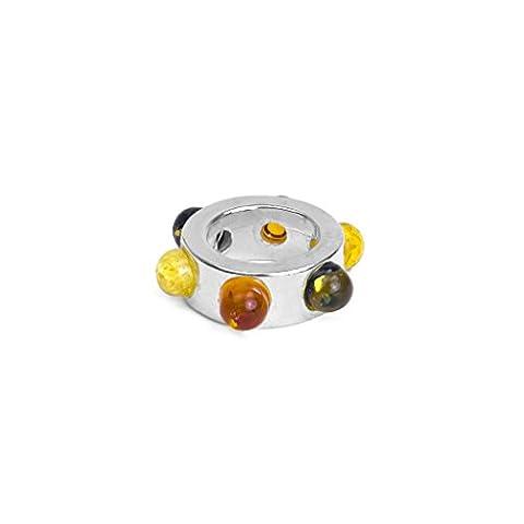 Ambre multicolore Argent sterling Petite perle charm