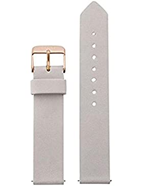 Cluse Damen Uhrenarmband La Roche Leder Grau CLS401