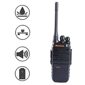 baiston BST-508 professionnel super-puissance étanche 6w antichoc talkie-walkie - noir