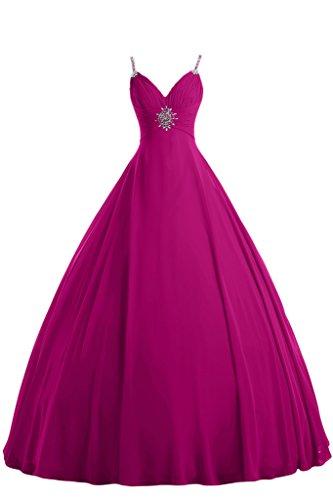 Gorgeous Bride Elegant Lang Chiffon Abendkleid Festkleid Ballkleid Fuchsia