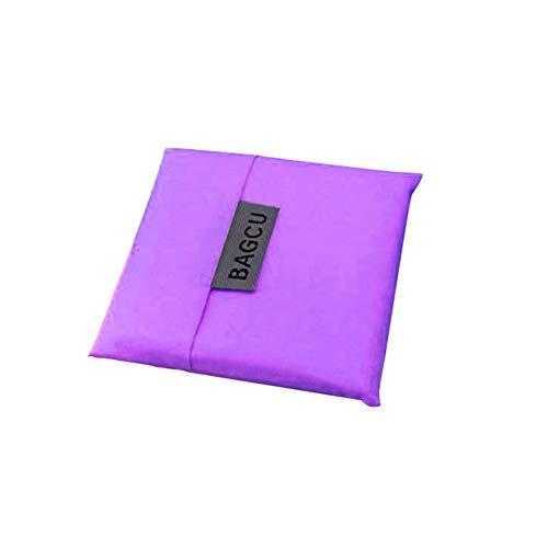 XdremYU Speicherorganisator Stapelbarer Behälterwürfelkorb Art and Craft Tragbare Faltbare Einkaufstasche Große Kapazität Tote Wiederverwendbare quadratische Griff Handtasche für Frauen Purple -