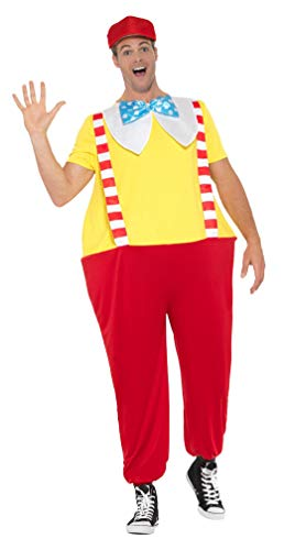 Smiffys SMIFFY 'S-47181-ML Jolly Storybook Kostüm, rot, M bis L-UK Größe - Tweedle Dee Für Erwachsenen Kostüm
