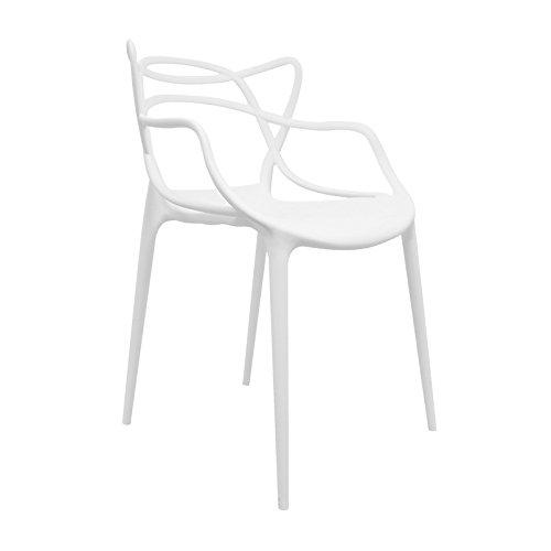 Regalos Miguel Silla Korme apilable: una de Las Sillas Masters del Diseño Moderno (Blanco)