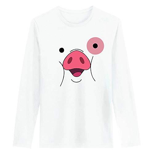 Kidac Camiseta De Manga Larga con Cuello Redondo para Hombres Y Mujeres...