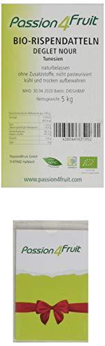 Passion4Fruit - Rispendatteln Deglet Nour | Bio- & Rohkostqualität | unbehandelt & naturbelassen | 5 kg