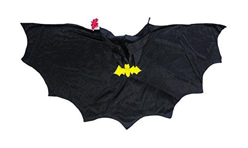 Kostüm Jahr Batman 100 (Trullala Batman-Cape, Batmanumhang, Faschingsumhang mit Kapuze Größe: M (4-6)