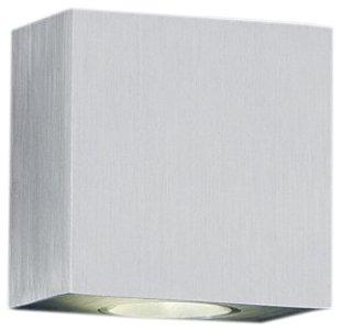 Trio Leuchten 220110205 Applique murale à LED en aluminium brossé 2 ampoules à LED 3 W 3500 K 210 lm 8 x 8 cm