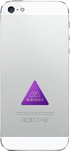 WAVEEX - 1 pezzo Adesivo - Schermatura campo magnetico Inquinamento elettromagnetico Esposizione radiazioni dei cellulari Campi elettromagnetici | Neutralizzatore Radioprotezione | Accessori per cellulare