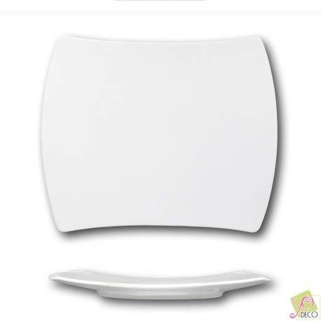 Plat rectangulaire porcelaine blanche - L 31 cm - Tokio