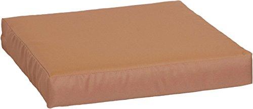 Gartenstuhl-Kissen Premium Lounge Sitzkissen Palettenkissen in sand ca. 50 x 50 cm ca. 9 cm dick aus 100% Polyester wasserabweisend