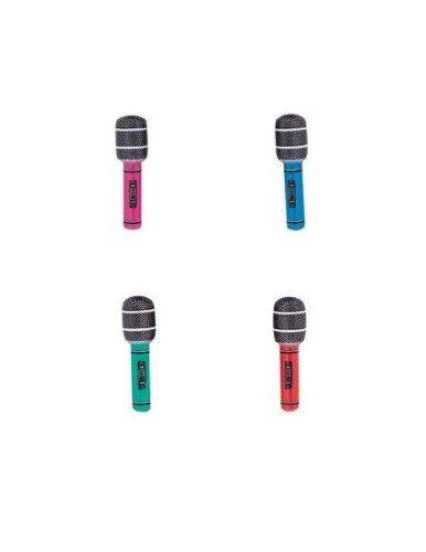 Mikrofone 26.7cm Sortiert Blow-up Aufblasbar Musikalisch Instrumente für Party Dekoration Requisite oder Pool Zubehör