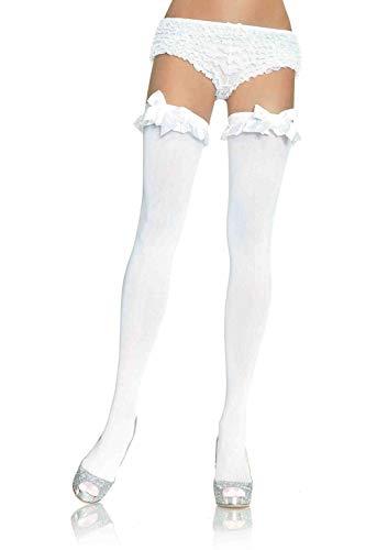 Leg Avenue Hosiery- Mujer, Color blanco, Talla Única (EUR 36-40) (Dreamlove 6010 WHITE)