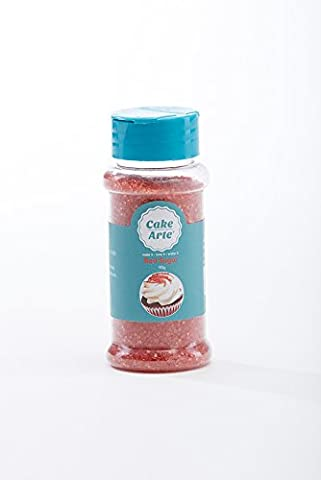 Red Sanding Sugars Edible Cake Decorating Sprinkle Perfect Toppings for