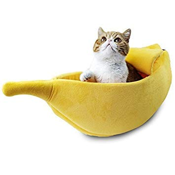 SODIAL Cama gato perro mascota lindo Forma platano