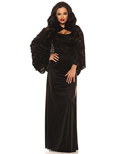 Underwraps Coffin Capelet - Black One Size
