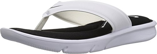 Nike Womens Ultra Comfort Thong Black White Synthetic Sandals 39 EU Nike Womens Thongs