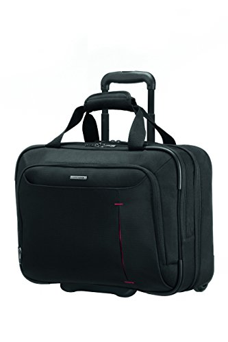 "Samsonite Guardit Rolling Tote 17.3"" 24 Liters Black (Black) 55930"