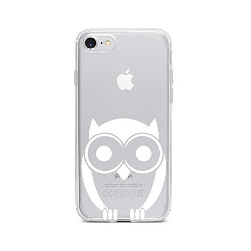licaso Apple iPhone 7 Handyhülle Smartphone Apple Case aus TPU mit Eule Glubschi Print Motiv Slim Design Transparent Cover Schutz Hülle Protector Soft Aufdruck Lustig Funny Druck - Plüschtiere Soft-plüsch