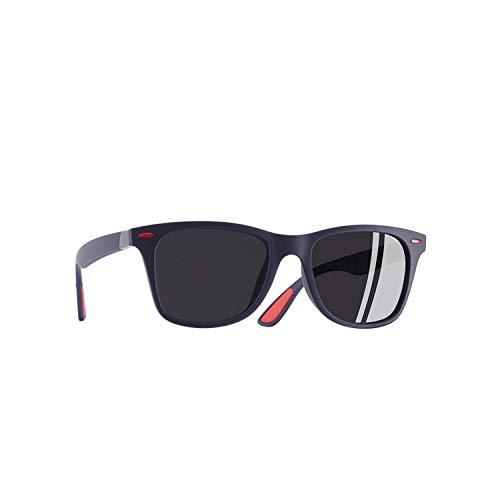 Sportbrillen, Angeln Golfbrille,NEW DESIGN Ultralight TR90 Polarisiert Sunglasses Men Women Driving Square Style Sun Glasses Male Goggle UV400 Gafas De Sol C5Matte Blue gray