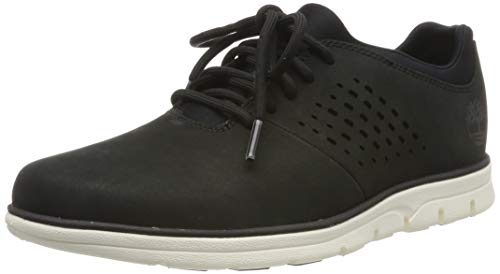 Timberland Herren Bradstreet Perf Plain Toe Oxford Schuhe, Schwarz (Black Nubuck), 41 EU Timberland Plain Toe