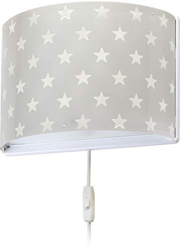 Dalber kinder wandlampe Sterne Stars Grau, Polypropylen, 60 W
