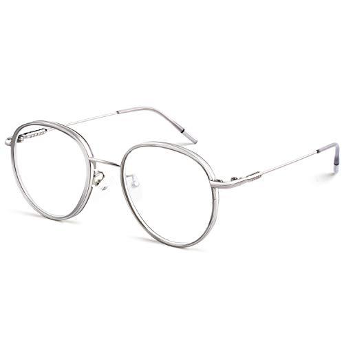 CGID Retro Brillengestell Metall TR90 Rahmen 2019 Neue Mode nicht verschreibungspflichtige Brille für Damen und Herren