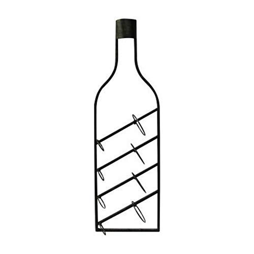 CAPRILO Botellero Decorativo para Botellas de Vino de Metal Botella. Muebles Auxiliares. Menaje de Cocina. Regalos Originales. 87.5 x 25.5 x 12 cm.