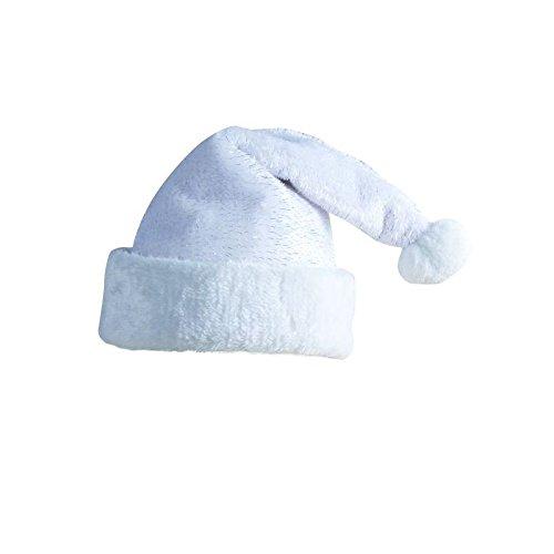 Bonnet-de-Pre-Nol-blanc-avec-des-filaments-argents-Adulte