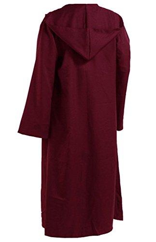 Herren Kapuzen Robe Umhang Ritter Fancy Cosplay - Rote Robe Kostüm
