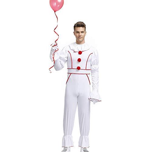 Kostüm Clown Männlich - COSOER Geisterpuppe Cosplay Kostüm Horrorfilm Paar Dress Up Clown Kleidung Für Halloween Männliche Abnutzung,XL
