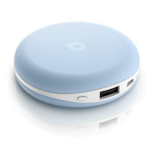 CSL - Alu Handwärmer mit Powerbank Funktion 3000 mAh | Akku Power Bank USB | Alu Taschenwärmer wiederverwendbar elektrisch | Handyakku mobiler Zusatzakku | Für Handys Smartphones Tablets Navis