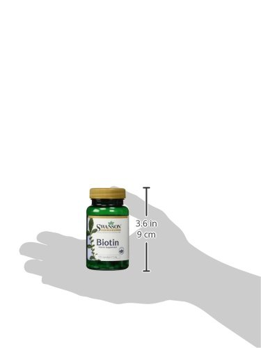 Swanson - Biotin (Vitamin B7 - H) 5000mcg/5mg, 100 Kapseln