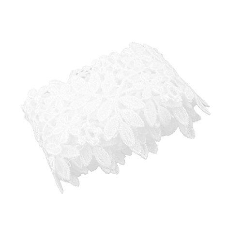 DealMux Polyester-Kleid-Rock-Kleid gestickter DIY Fertigkeit-Dekor-Spitze-Rand-Trim 2.2 Yards - Vestir De Faldas