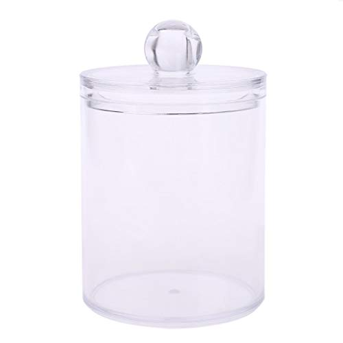 Baiyao Transparent En Plastique Cosmétique Organisateur Tampons De Coton Boîte De Base De Stockage Boîte Moyenne Porte-Tampon De Coton avec Couvercle Ronde Cas De Stockage pour La Maison