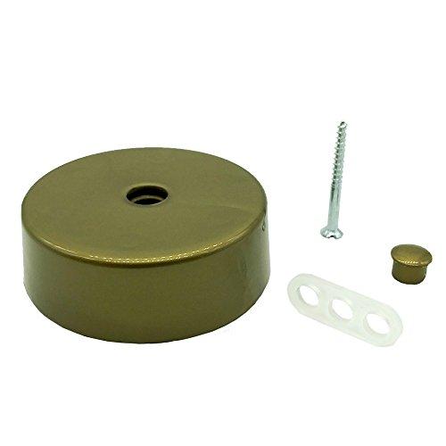 Verteilerdose Gold Kunststoff mit Zubehör ø 74x25mm Verteilerbaldachin Aufputzdose Anschlussdose
