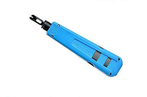 Netzwerkkabel Impact Punch Down Tool für Modul und Patch Panel Netzwerk Kabel Werkzeug mit 110 und Krone Blade (Tool Down Krone Punch)