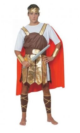 ROMAN CENTURION SOLDIER MENS FANCY DRESS OUTFIT COSTUME, ONE SIZE by Pams